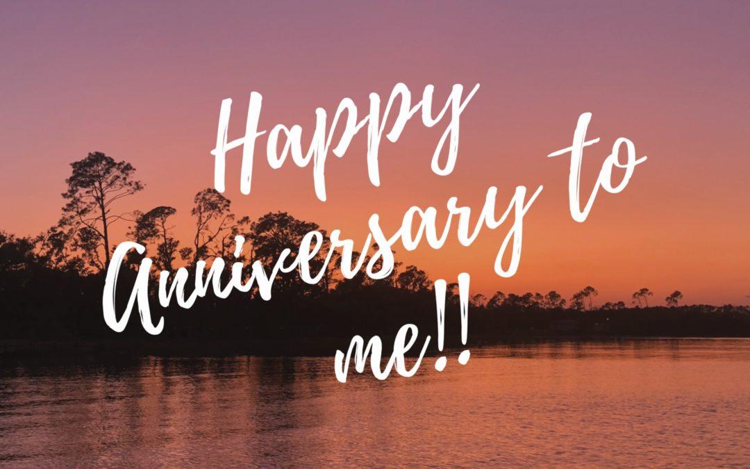 Happy anniversary to me!!!