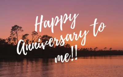 Happy anniversary to me!!!